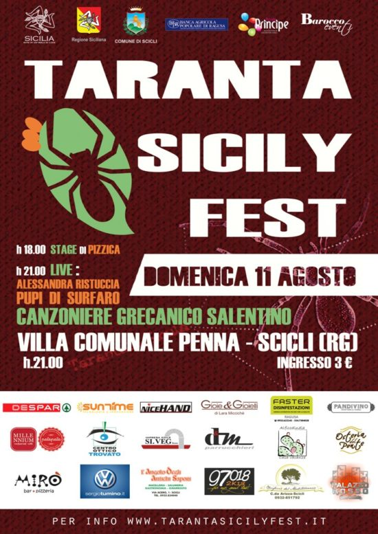 Locandina Taranta Sicily Fest 2013